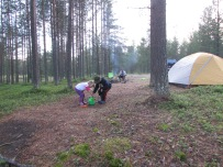 First night camping outside Pallas Yllestunturni National Park