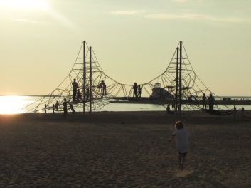 very cool playground ON the beach - great idea!