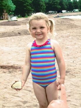 a little swim on the beach
