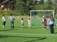 kids vs adults soccer match